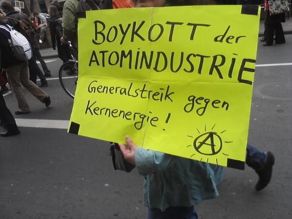 Atomindustrie boykottieren!