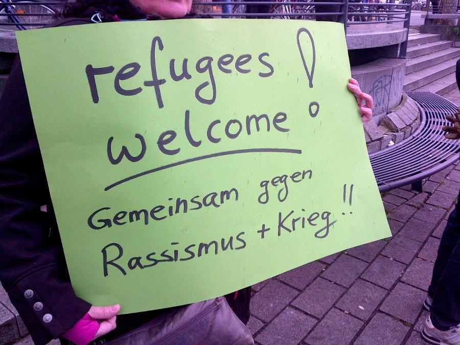 Fluechtlinge willkommen