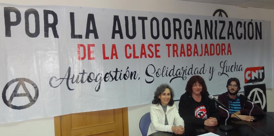 'Für die Selbstorganisation der Arbeiter*klasse: Selbstbestimmung, Solidarität und Kampf' (Foto: iwa-ait)