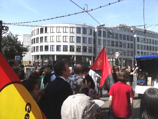Demo mit Oberbürgermeister