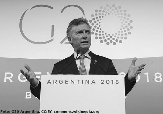 Praesident Marci auf dem G20-Gipfel in Brasilien 2018