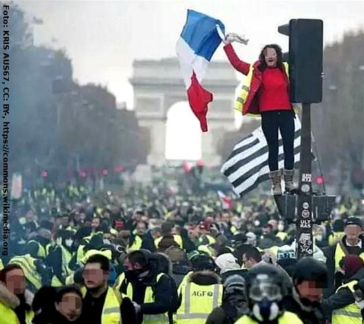 Gelbwesten demonstrieren in Paris 2018