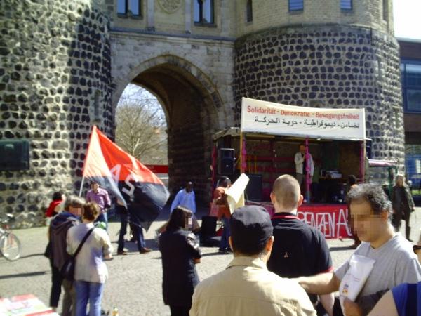 Solidarität mit den arabischen Aufständen