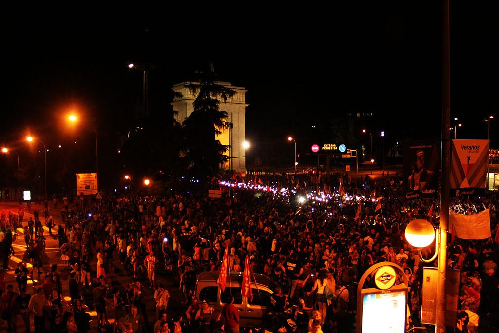 Marsch der Bergleute erreicht Madrid 2012