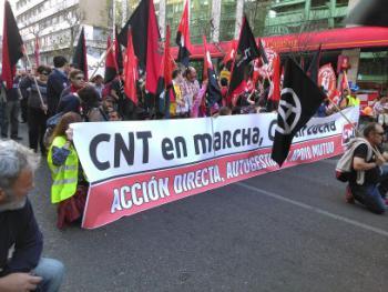 "CNT-Beteiligung an den \""Märschen der Würde\"""
