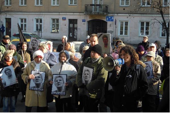 Trauerkundgebung für Jolanta