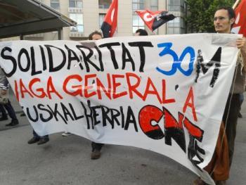huelga general 30-M Euskal Herria