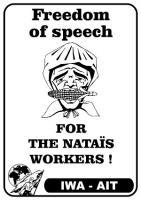 Redefreiheit für die Arbeiter/innen bei Natais!