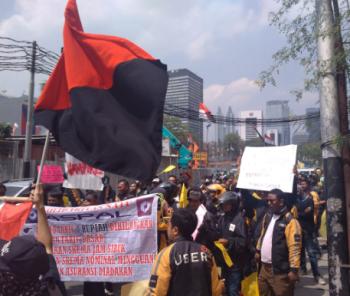 Uber->Fahrer*innen demonstrieren in Jakarta 2017